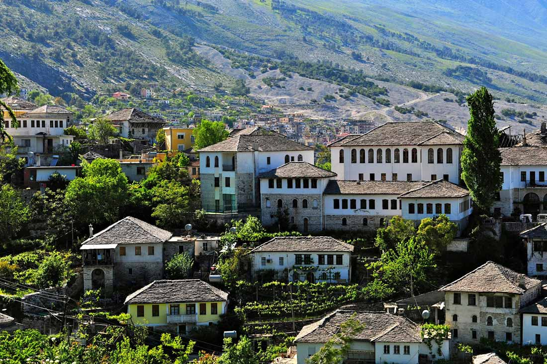 Casas otomanas de Gjirokastra