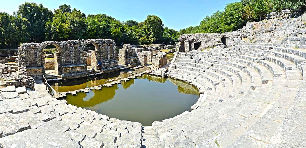 Teatro de las ruinas de Butrint