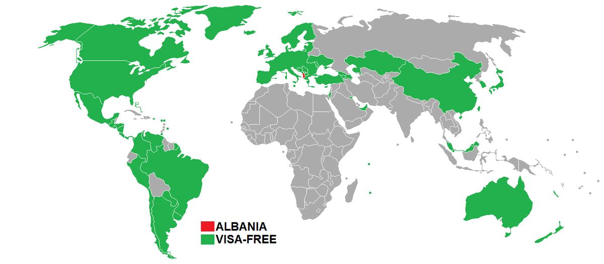 Países que no necesitan VISA para entrar a Albania