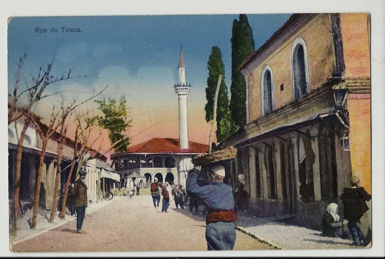 Postal antigua de Tirana