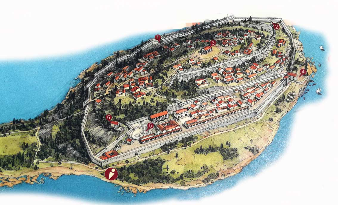 Reconstrucción de la antigua ciudad de Butrint